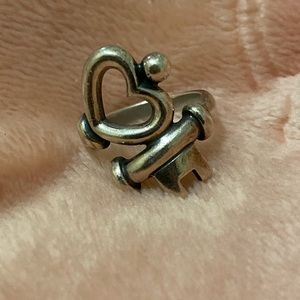 James Avery Key to My Heart ring